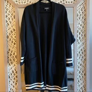 Express Black and White Sporty Cardigan